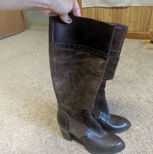 Franco Sarto suede & leather boots